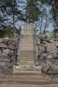 Stairs on the way to Nagaon Beach