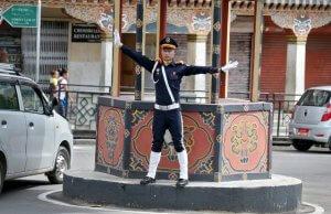 Bhutan-Traffic-Cop