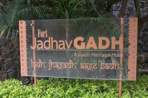 Entrance Board at Fort Jadhavgadh